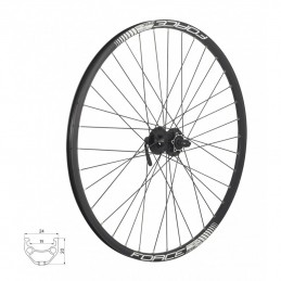 Roata fata Force Basic Disc 26""